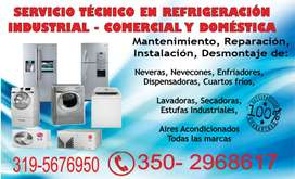 Servicio Especializado en Aires acondicionados, Neveras, Lavadoras, Calentadores  350-2968617