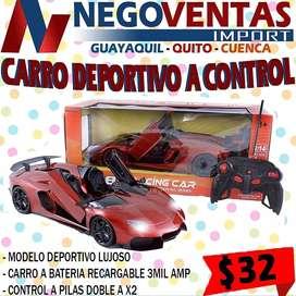 Carro deportivo a control remoto ideal juguete regalo de navidad