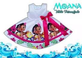 Hermoso Vestido Personalizado Baby Moana
