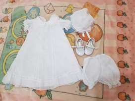 Vestido de bautizo para niña de 1 año