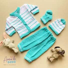 conjunto tejido recien nacido bebe