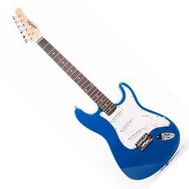 Guitarra Konige LAST32BL Music Box Colombia electrica Stratocaster Azul