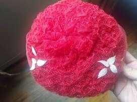 Sombrero Rojo Seda