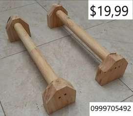 Barras paralelas de madera para gym, calestenia o crossfit