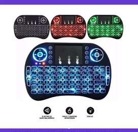 Mini teclado airmouse inalámbrico android Smart TV iluminado