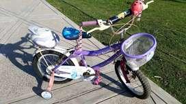 Bicicleta niña usada