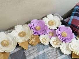 Decoración Flores de papel de 35 cm