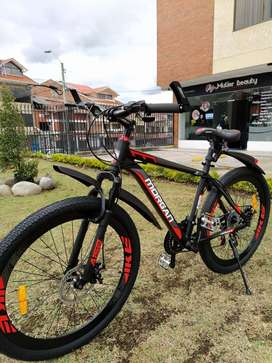 Bicicleta 26 Morgan Shimano 21 Vel Cuadr Aluminio Suspencion