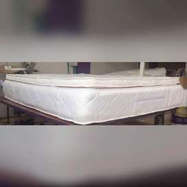 Colchón semi pillowtop en resortes cama doble