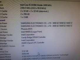 Board samaung 300E4Z con procesador core i5 -2430M