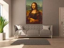 Mona Lisa Lienzo Impresión Lista para colgar (Leonardo Davinci Mona Lisa Canvas / Mona Lisa Canvas / Mona Lisa Frame /