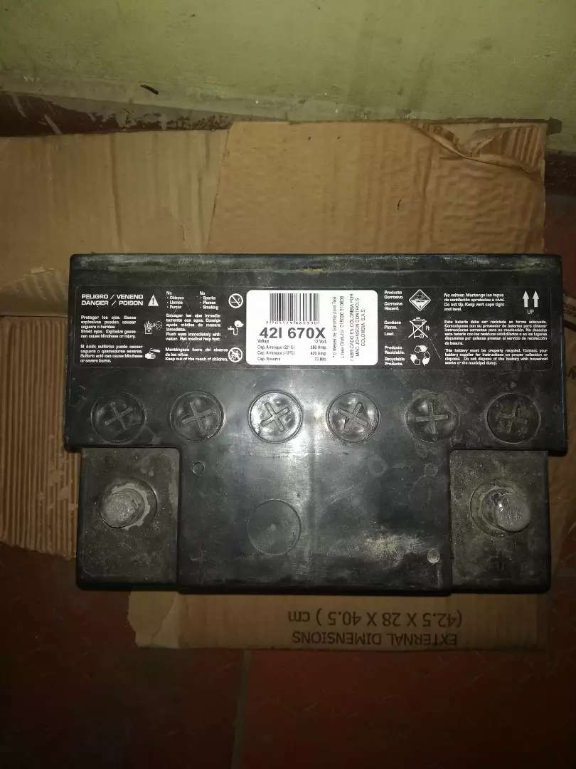 Se vende batería para carro 0