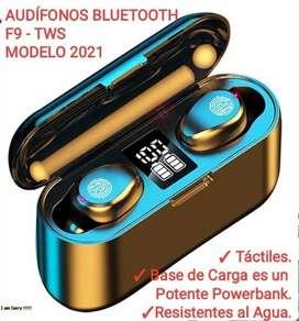 ESPECTÁCULARES AUDÍFONOS BLUETOOTH F9 TWS - NUEVOS
