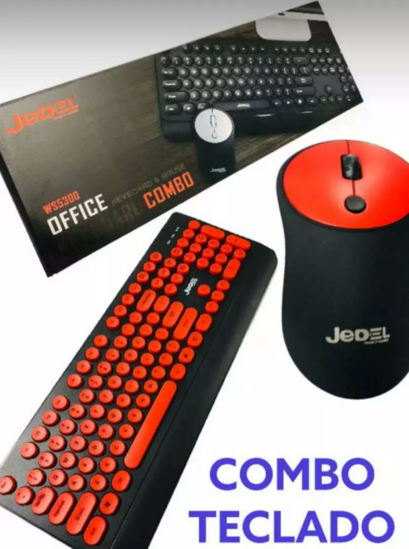 Combo Mouse teclado inalámbrico nuevos 0