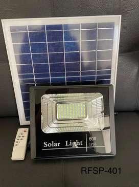 Reflector solar 60w completo listo para instalar