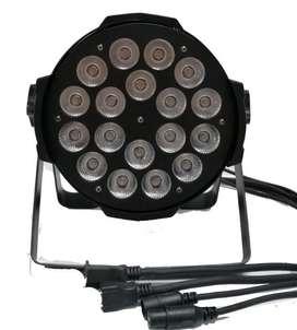 Luz Luces Led Iluminación Escenario 18 *12w Dmx512 Rgbw