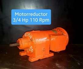 MOTORREDUCTOR 3/4 HP 110 RPM TRIFASICO