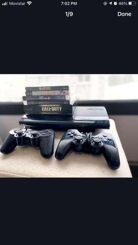 PS3 + 8 juegos + 2 joysticks