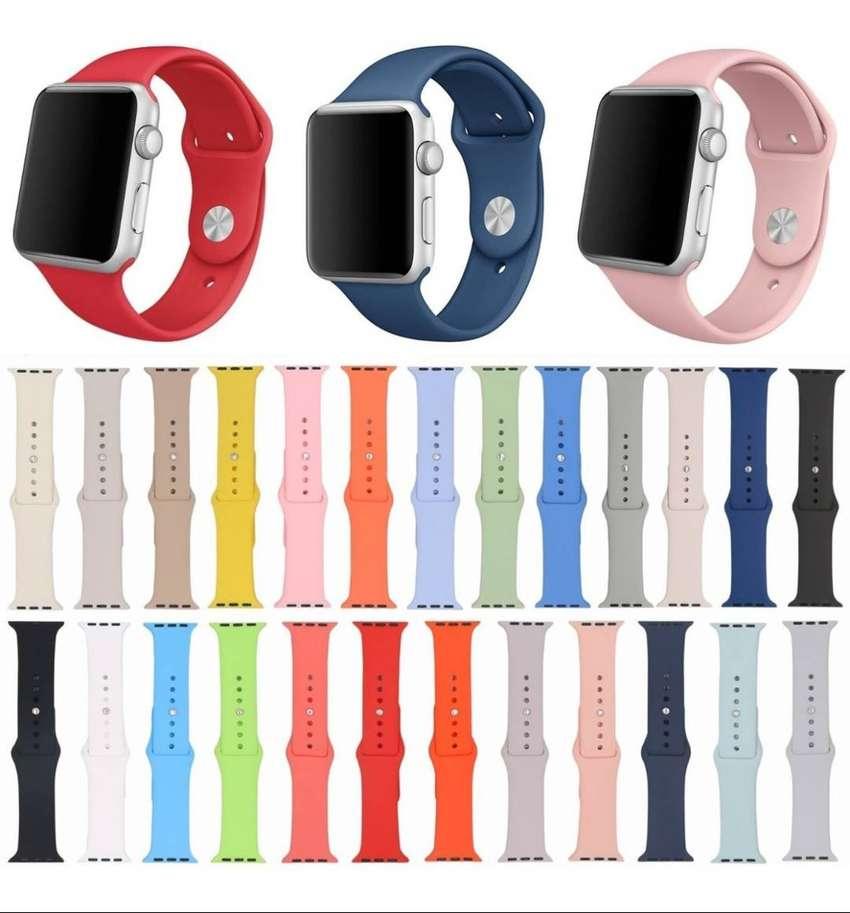 Pulso Manilla Correa De Apple Watch Colores Silicone 38/40mm 0