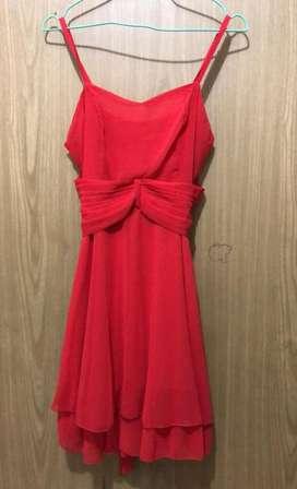 Vestido Formal Rojo de Tiras