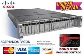 SERVIDOR CISCO UCS-SPRC240M4-V2, 2xINTEL XEON E52650V3 2.3GHz 10 CORE, RAM 16GB HDD 2TB