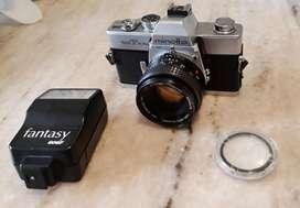 Cámara fotográfica - Minolta SRT101B  flash  lentilla