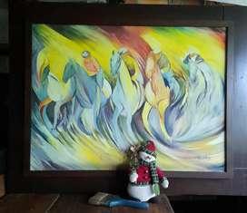 Obra de arte al oleo