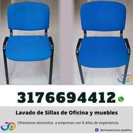 Limpieza y lavado de sillas de oficina Ibagué