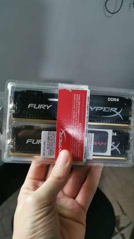 2 memorias HIPERX FURY cada una de 4 GB de Ram DDR4