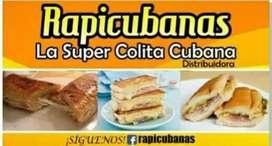 Colitas y sandwich cubanos