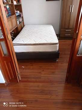 Base cama y colchón semidoble