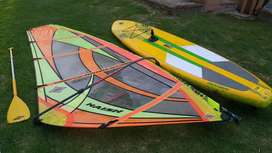 excelente naish inflable Stand Up Paddle y windsurf completo