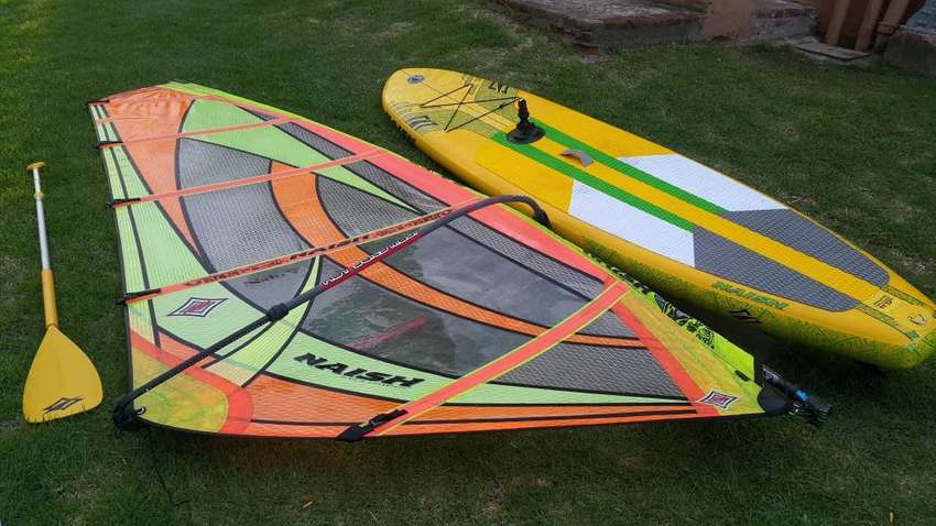 excelente naish inflable Stand Up Paddle y windsurf completo 0