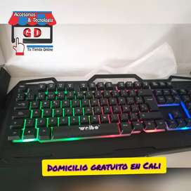 combo gamer teclado y mouse de 7 botones