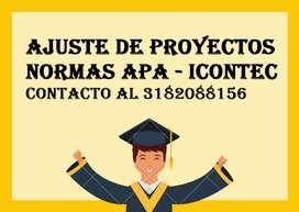 Corrección de Textos y Ajuste Normas Apa E Icontec