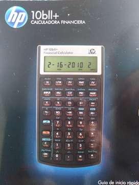 Vendo calculadora Financiera hp 10bll