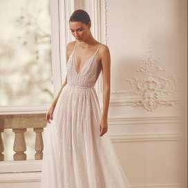 Tela seda blanca autèntica italiana, idal novias