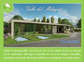 "Lote 1.200m2 - Ecobarrio ""Valle del Milagro"""
