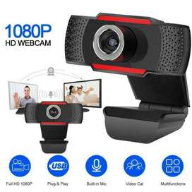 Camara Web 1080p USB Sonido Claro Base con Clip Webcam