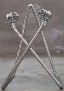 Servilleteros metal de mesa elefantes, 9 x 13 cm