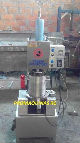 Prensa extractora para cacao