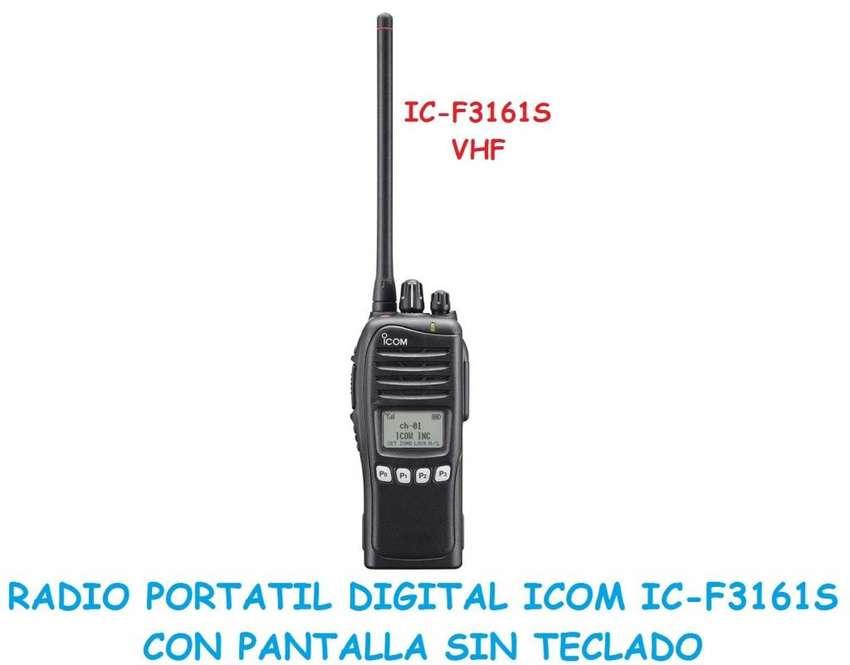 RADIO PORTATIL DIGITAL ICOM ICF3161S VHF CON PANTALLA SIN TECLADO 0