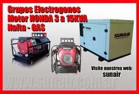 Grupos electrogenos Honda a gas domesticos comerciales