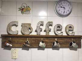 Decoracion cocina COFFEE letrero