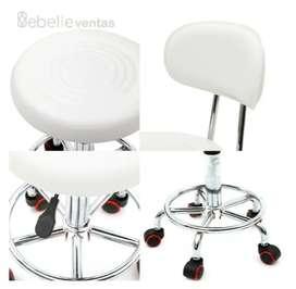 Silla Giratoria Hidráulica Para Estetica Spa Salon Envio Ya!