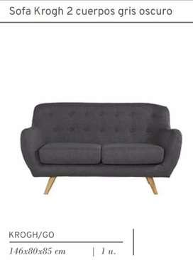 Sofa krogh 2 cuerpos 146x80x85 cm