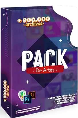 Pack de Diseño Gráfico 500gb