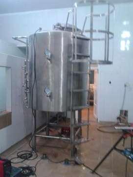 Tanque en acero inoxidables para pasterizar leche