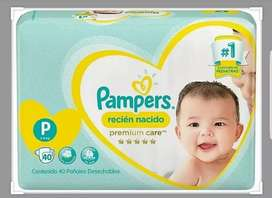 Combo x3 -Pampers Premium care talle P