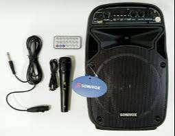 Cabina Parlante De Sonido Sonivox Bluetooth + Microfono